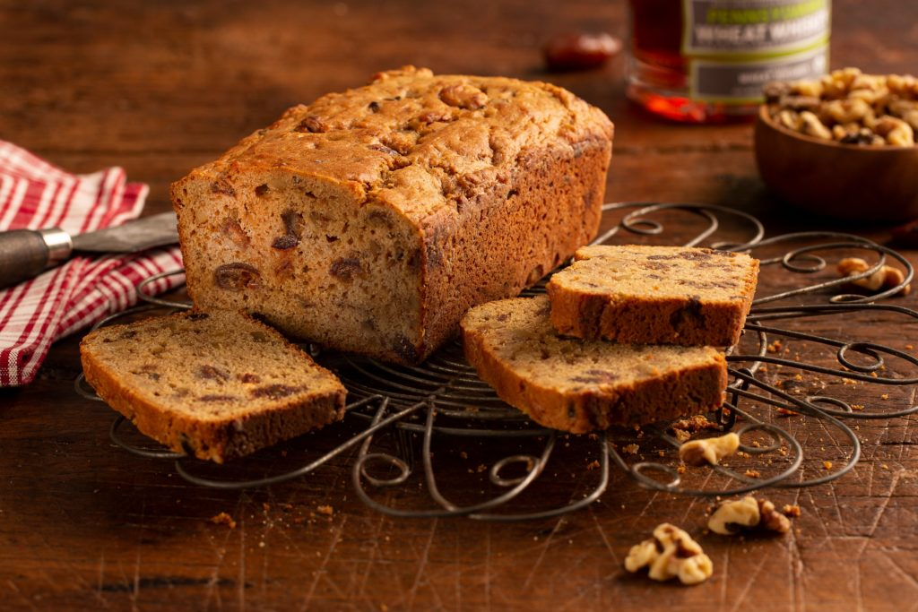 Hearty Date Nut Bread with Wigle Whiskey