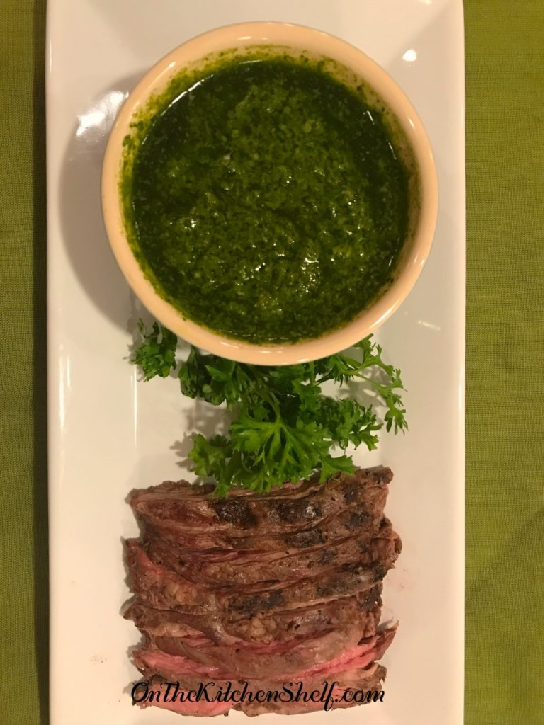 A dish of Chimichurri Sauce