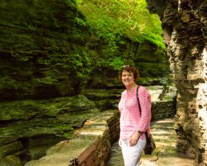 Standing along the Watkins Glen Gorge trail