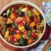 Large dish of colorful Ratatouille