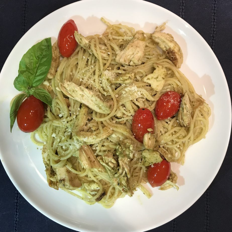 A quick and simple pasta dinner