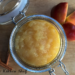 Homemade Cinnamon Applesauce in a pretty container