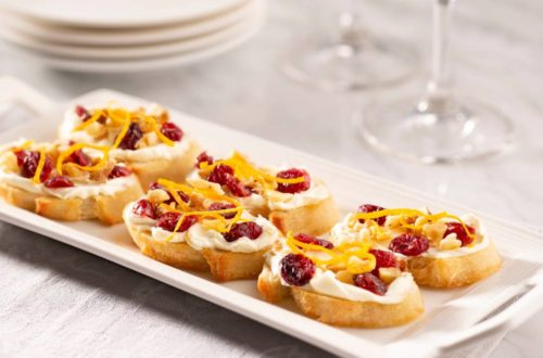 Holiday Cranberry Crostini