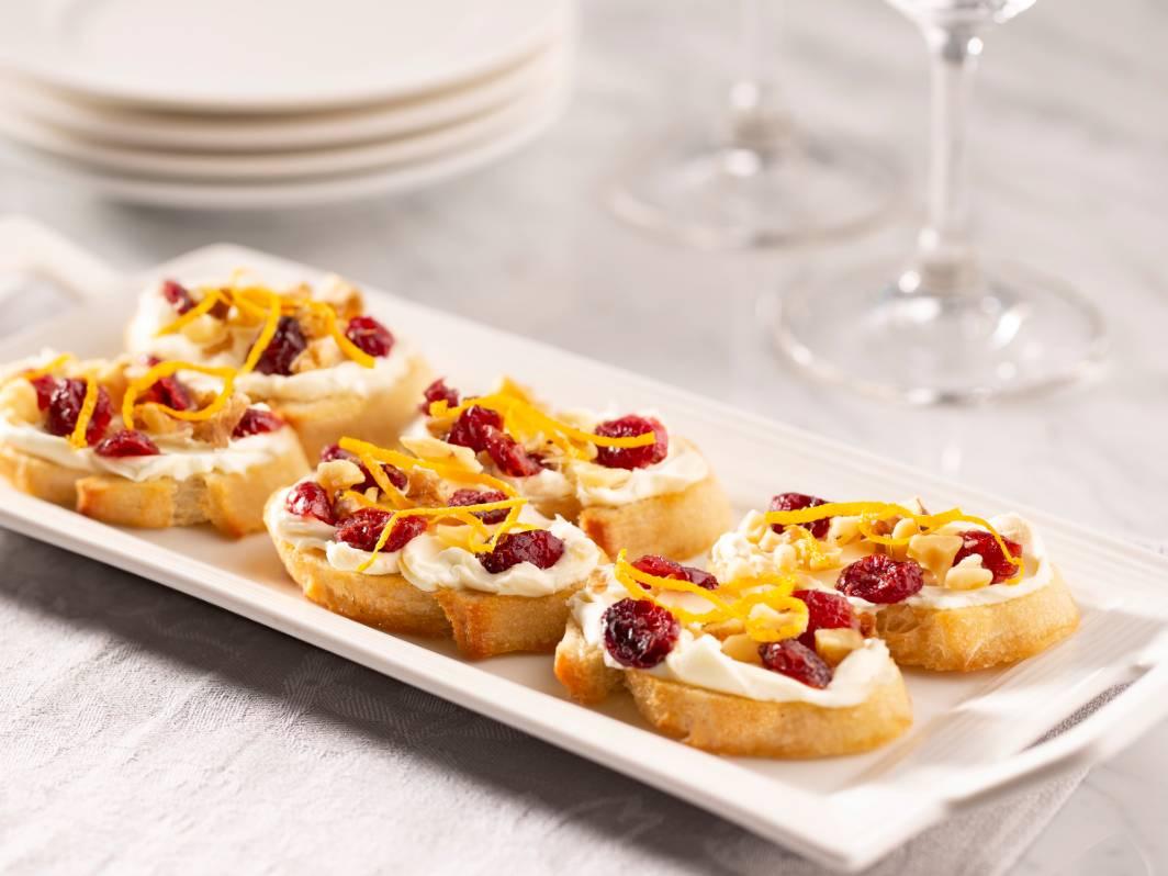 Holiday Cranberry Crostini