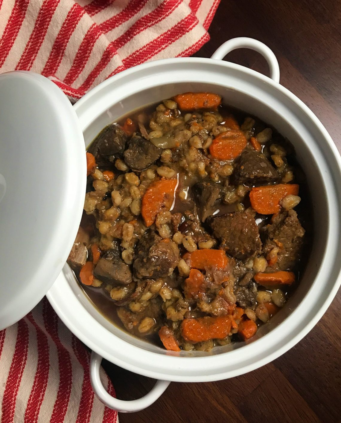 Instant Pot Beef and Barley Stew