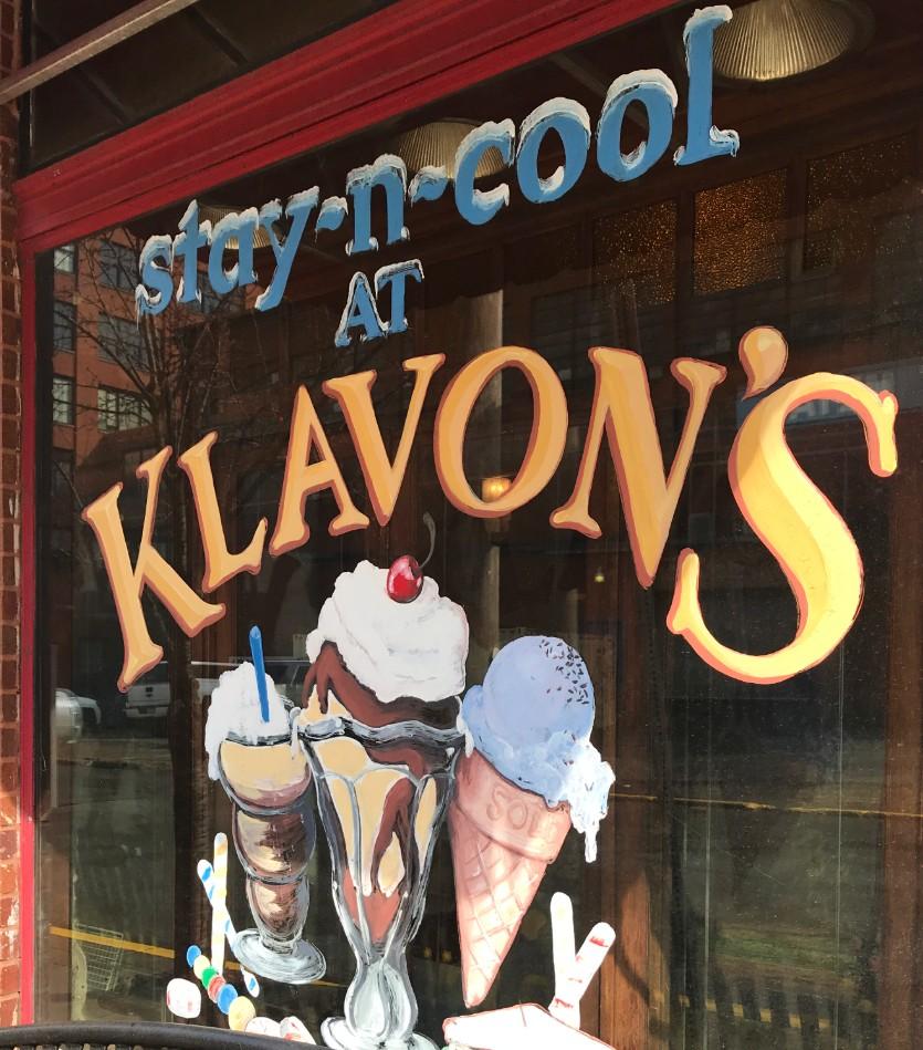Klavon's Ice Cream Parlor Sign