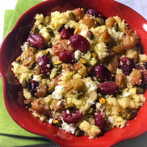 Roasted Grape and Couscous Salad
