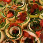 """Zucchini """"lasagna"""" Roll Ups"""