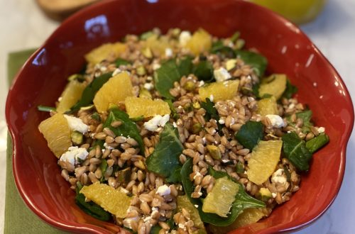 Orange Farro Grain Salad