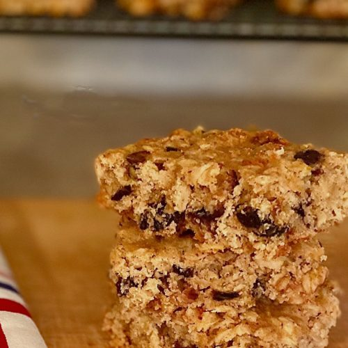 A Stack of Homemade Fig Bars